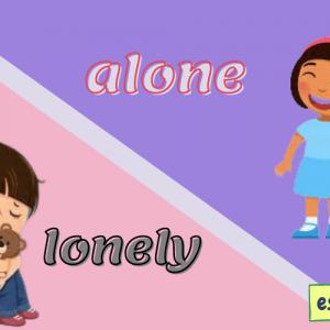تفاوت alone و lonely چیست؟